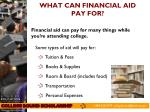 what can financial aid pay for