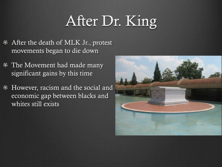 After Dr. King