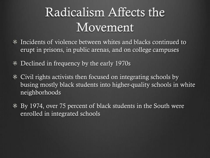 Radicalism Affects the Movement