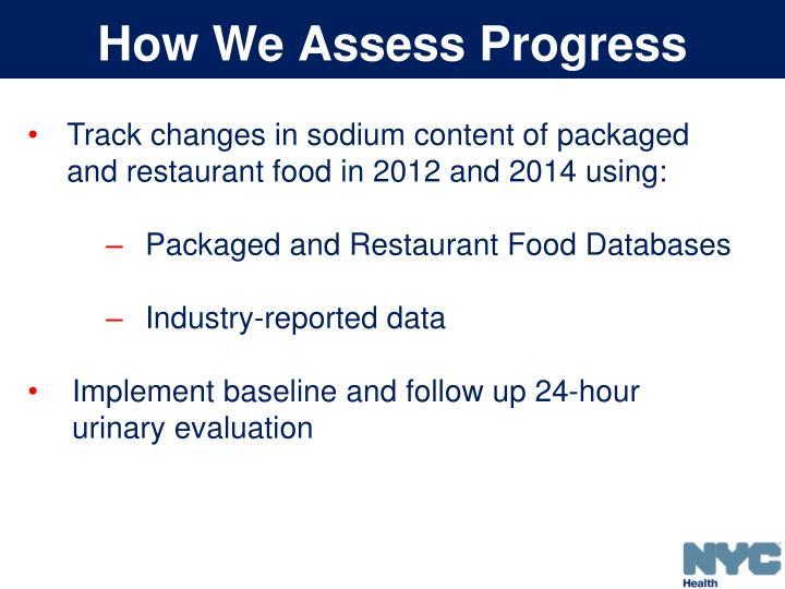 How We Assess Progress