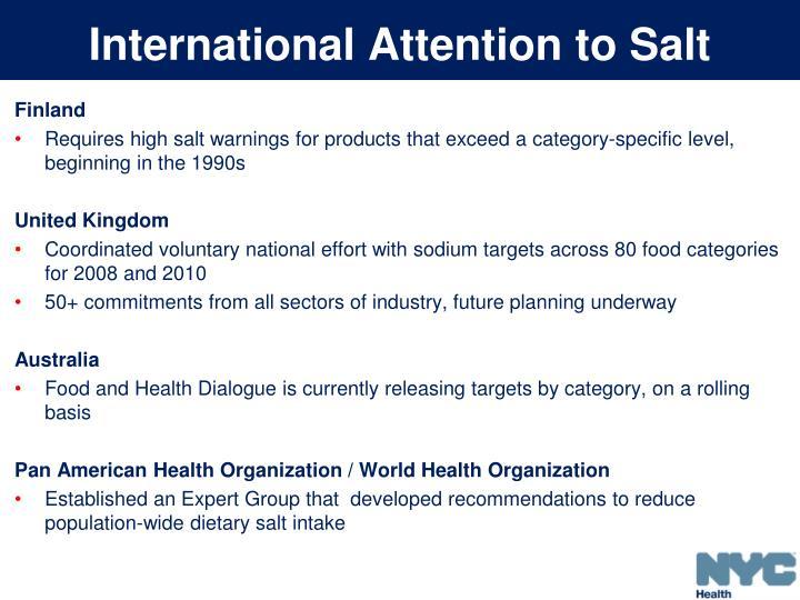 International Attention to Salt