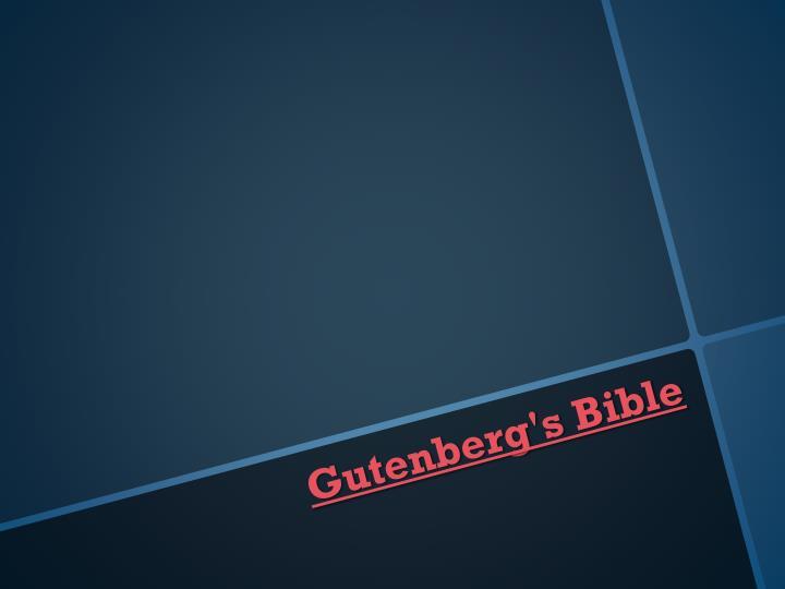 Gutenberg's Bible