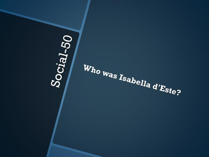Who was Isabella