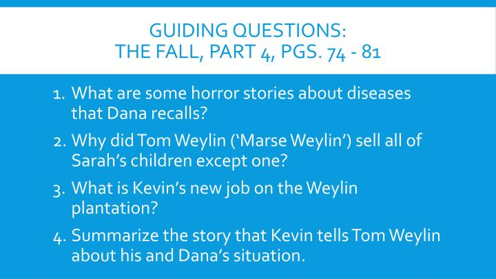 Guiding questions: