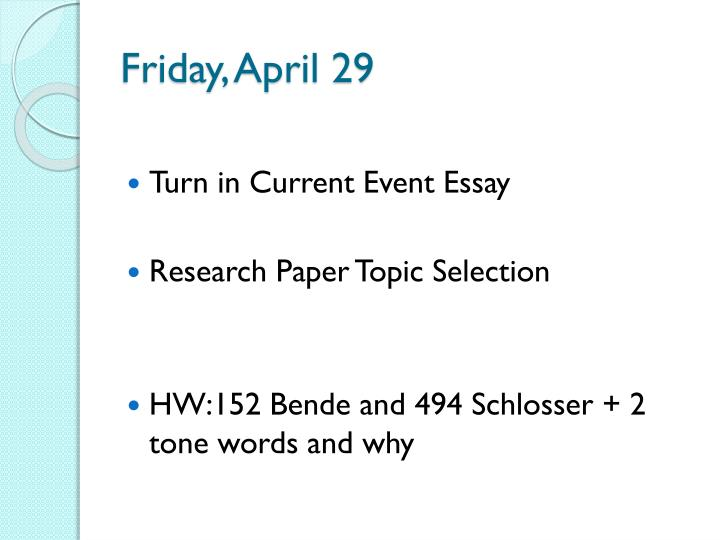 Friday, April 29