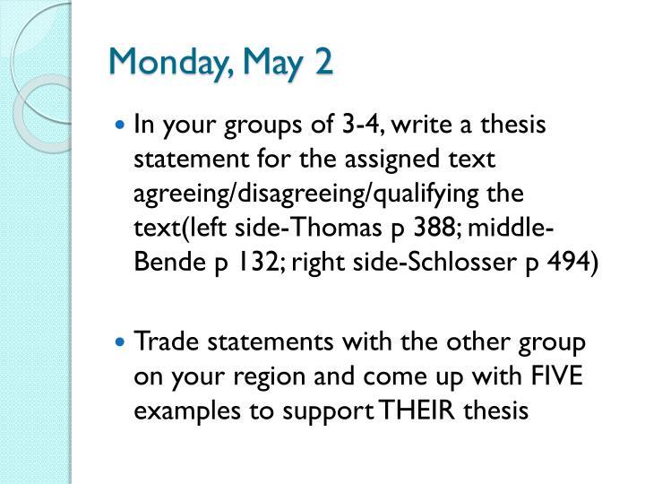 Monday, May 2