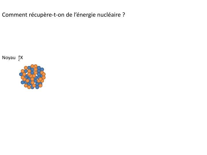 Comment récupère-t-on de l'énergie nucléaire ?