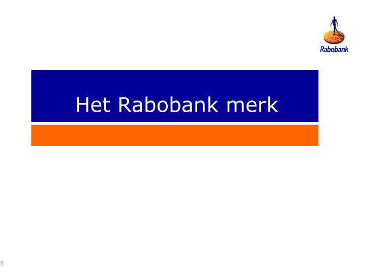 Het Rabobank merk