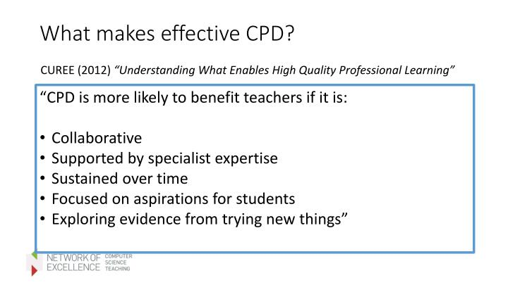 What makes effective CPD?