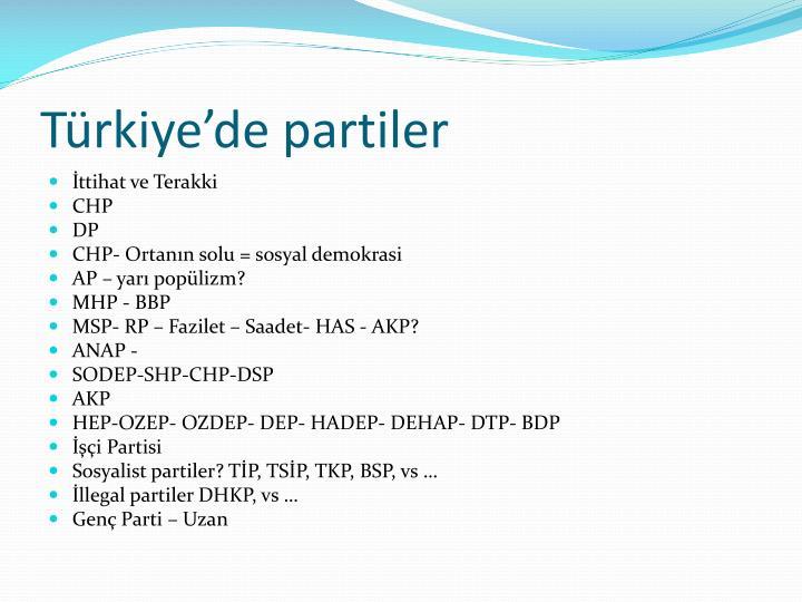 Türkiye'de partiler