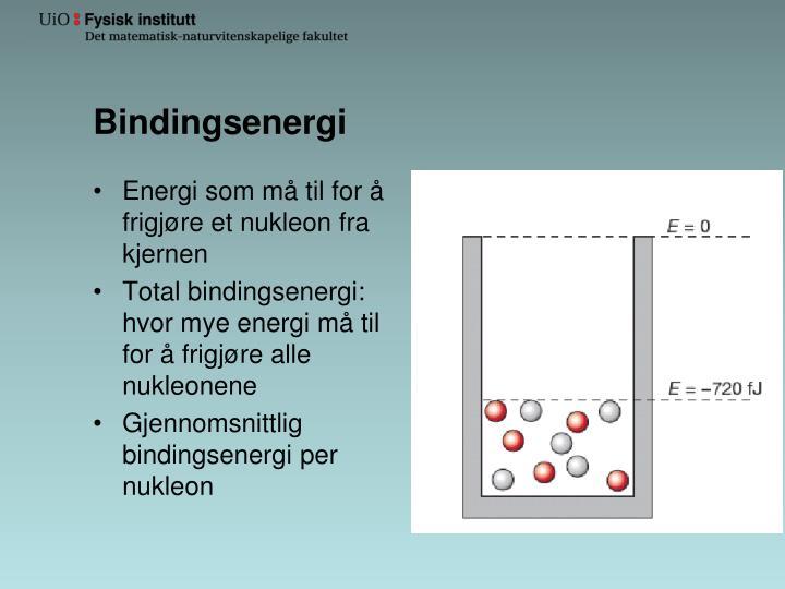 Bindingsenergi