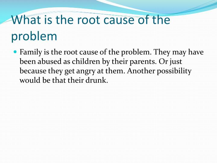 What is the root cause of the problem