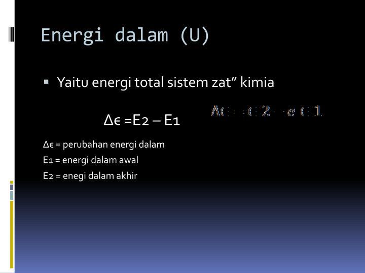 Energi dalam (U)