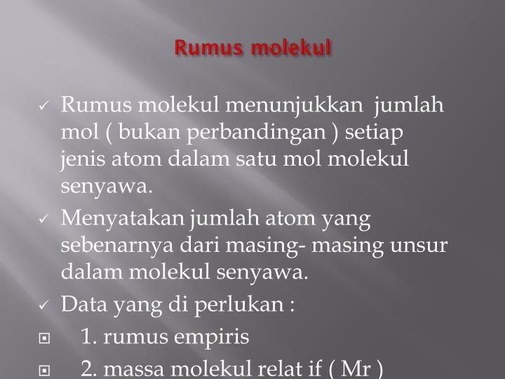 Rumus molekul