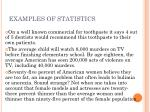 examples of statistics