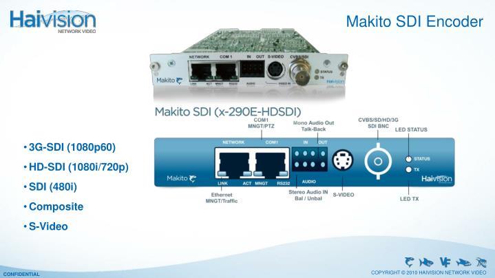 Makito SDI Encoder