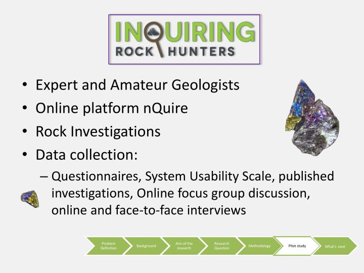 Expert and Amateur Geologists