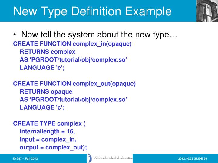 New Type Definition Example