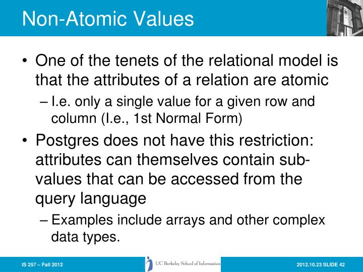 Non-Atomic Values