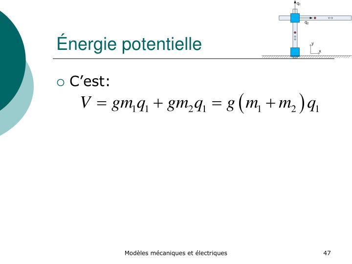 Énergie potentielle