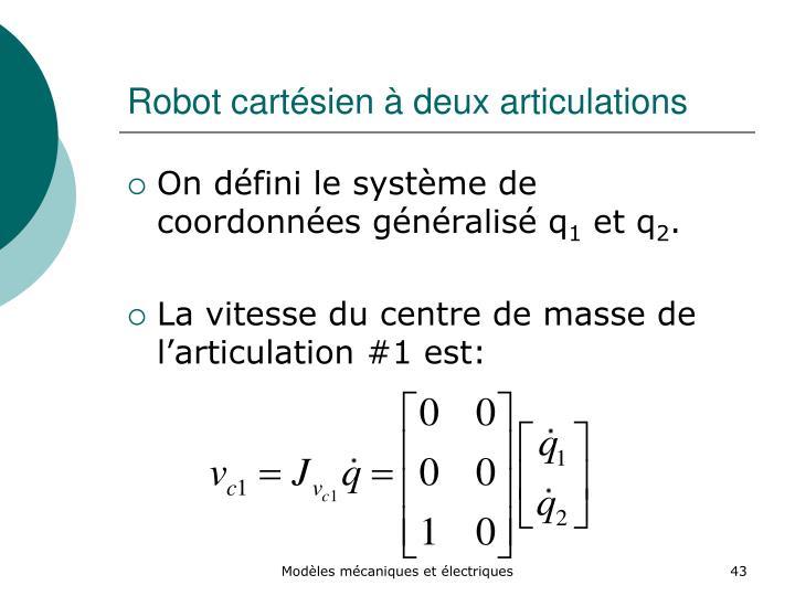 Robot cartésien à deux articulations