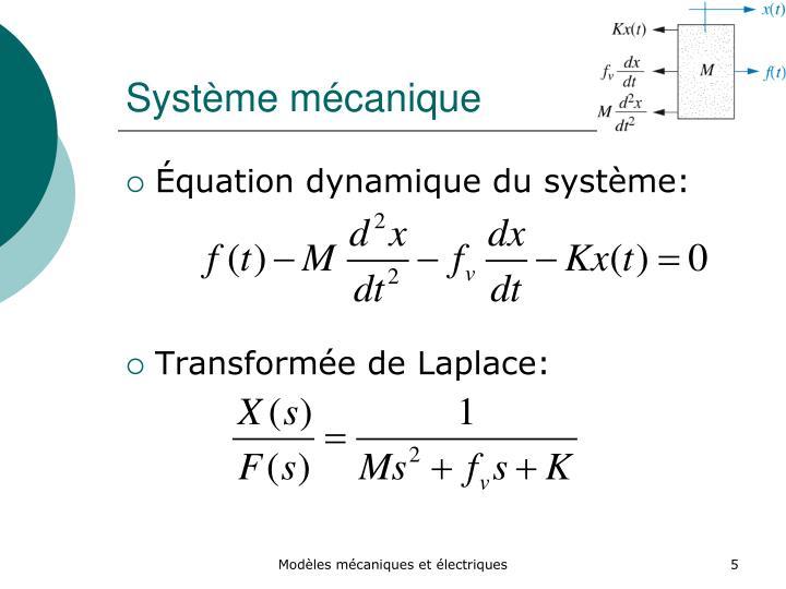 Système mécanique