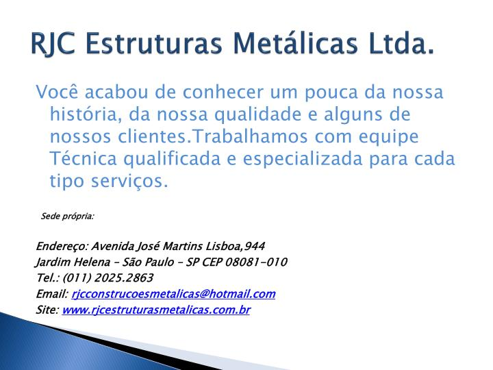 RJC Estruturas Metálicas Ltda.