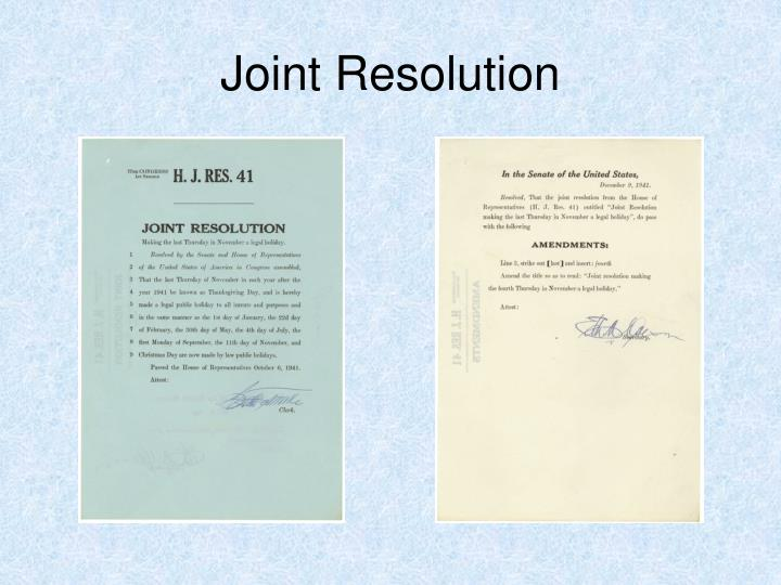 Joint Resolution