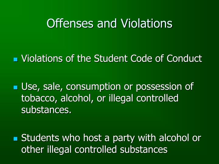 Offenses and Violations
