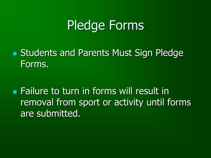 Pledge Forms
