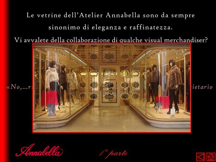 Le vetrine dell'Atelier Annabella sono da sempre