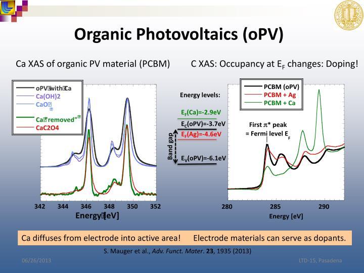 Organic Photovoltaics (oPV)