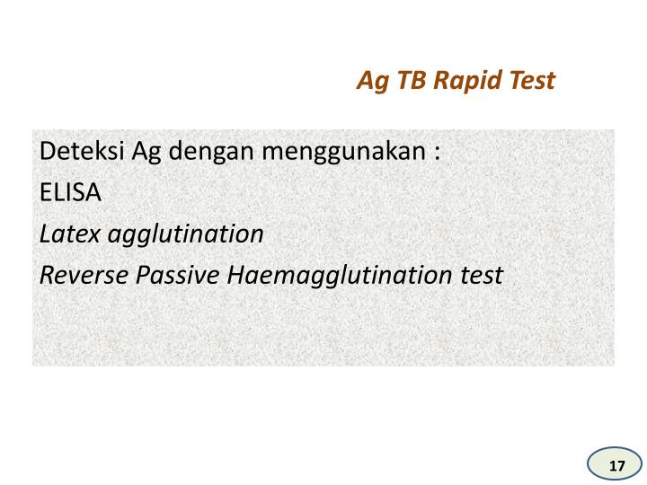 Ag TB Rapid Test
