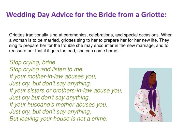 Wedding Day Advice for the Bride from a