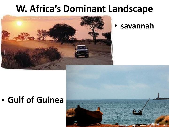 W. Africa's Dominant Landscape