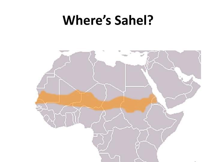 Where's Sahel?