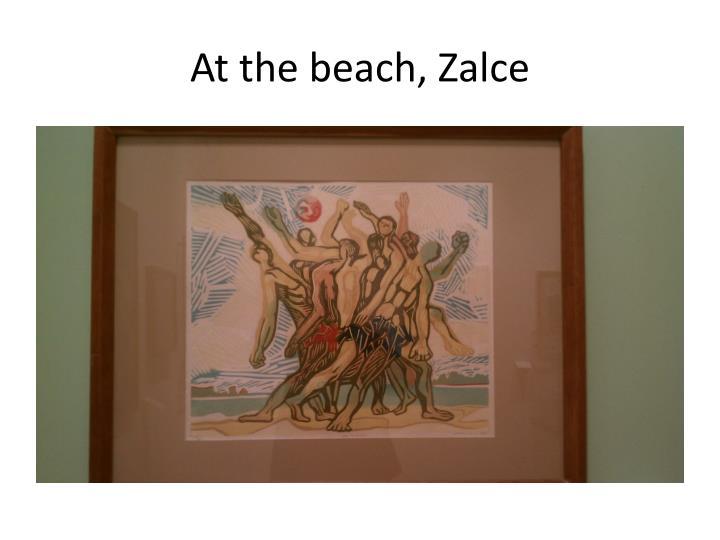At the beach,