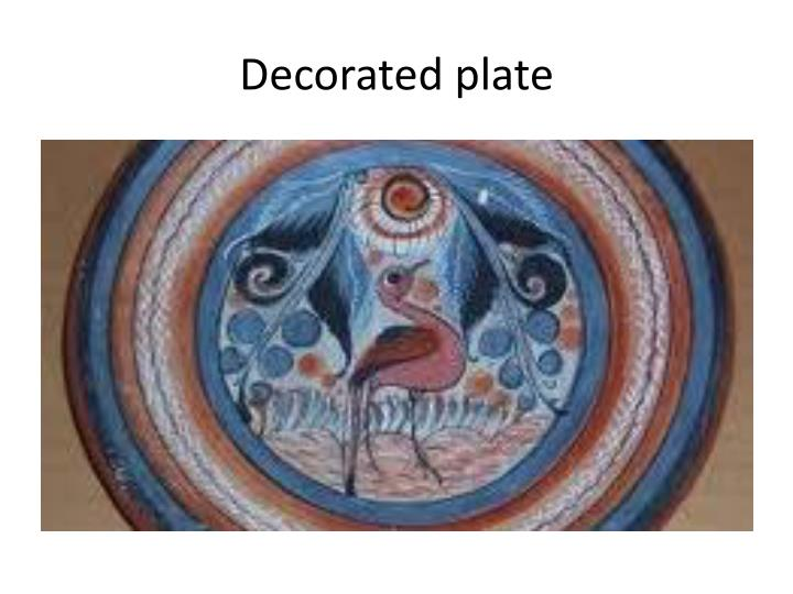 Decorated plate