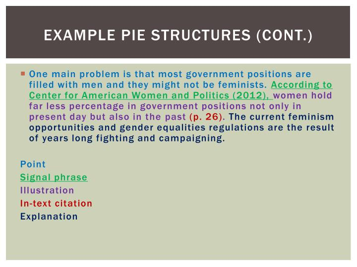 Example pie structures (cont.)