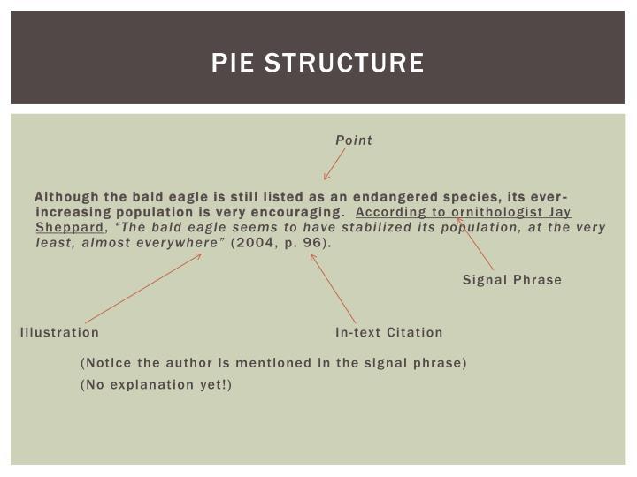 Pie Structure
