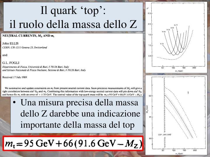 Il quark 'top':