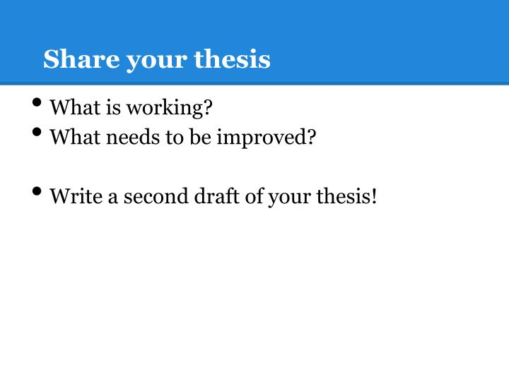 Share your thesis