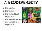 7 biodiversity