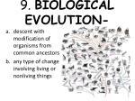 9 biological evolution