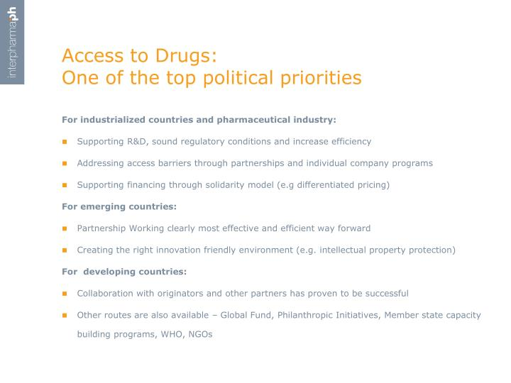 Access to Drugs: