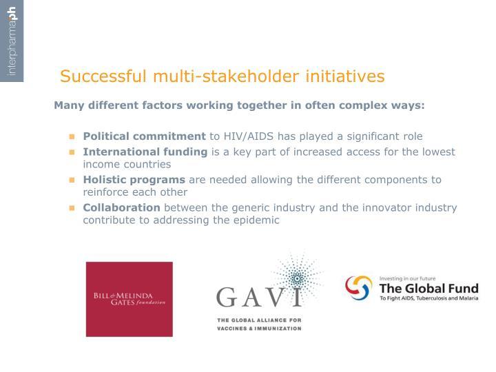 Successful multi-stakeholder initiatives