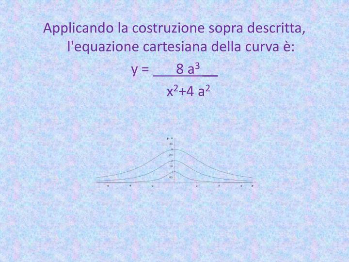 Applicando la costruzione sopra descritta, l'equazione cartesiana della curva è