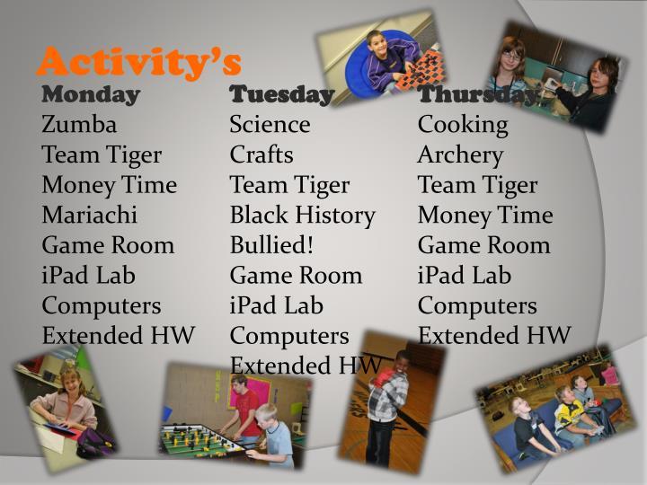 Activity's
