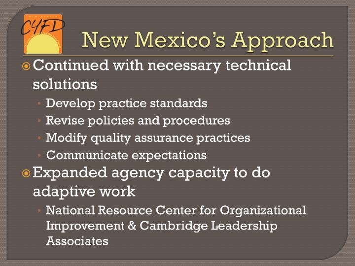 New Mexico's Approach