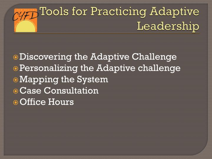 Tools for Practicing Adaptive Leadership